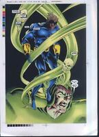 2001 Mutant X Annual 3 splash page 24 Marvel Comics comic proof art: X-Men Havok