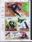 1990's Avengers Hulk vs Wonder Man 26 page 24 Marvel Comics color guide artwork