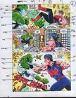 Original 1990's Captain Marvel vs Wonder Man comic book color guide art 7 page 2