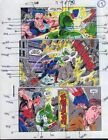 1990's Wonder Man 7 page 13 original color guide comic book art: Captain Marvel