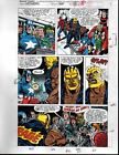 1991 Avengers 329 page 19 Marvel color guide art:Thor/Spider-man/Captain America