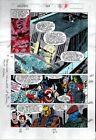 1990's Avengers 329 Marvel color guide art page 16:Thor/Captain America/She-Hulk