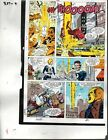 1990 Avengers 327 original Marvel Comics color guide art page 4: Fantastic Four