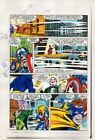 Original 1980's Captain America 296 page 11 Marvel Comics color guide art: 1984