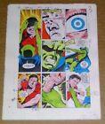 Original 1986 DC Comics JLA Justice Leage of America 260 page 3 color guide art