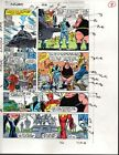 Original 1989 Avengers 312 page 8 Marvel Comics color guide comic artwork:1980's