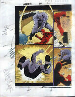 Original 1997 Daredevil 360 page 2 Marvel Comics Universe color guide art:1990's