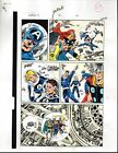 1980's Avengers 301 Marvel color guide art: Fantastic Four/Thor/Captain America