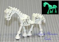 NEW Lego Glow in Dark SKELETON HORSE - White Monster Fighters Halloween Minifig