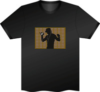 SOUND ACTIVATED GUY DANCING  FLASHING LIGHT UP DOWN LED T SHIRT XXL EXTRAX L el
