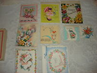 *9* Vintage GREETING CARD ASSORTMENT Unused, Get-Well, Birthday, Thank-You
