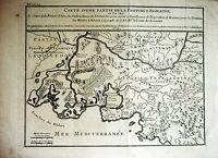 Kupferstich Landkarte HENRI LIÉBAUX 1729: Carte d'une partie de Province Romaine