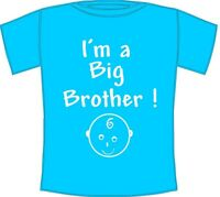 I'm A Big Brother - Cool New Baby, Brother Gift T-Shirt Ages 1 to 12 years