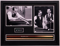 Ray Reardon HAND SIGNED FRAMED Snooker Cue + Photo Display AFTAL Autograph COA