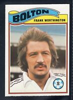 TOPPS FOOTBALLERS ORANGE BACK FRANK WORTHINGTON-BOLTON WANDERERS No.235 EX