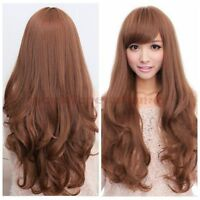 New Fashion Women's Girls Long Wavy Curly Hair Full Wig Wigs Cosplay Costume
