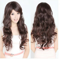 New Womens Girls Curly Wavy Long Lady Full Wigs Hair Party Fashion Wig Cosplay