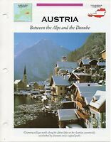 FFA - Austria Between the Alps and the Danube - Western Europe - Fact file Card