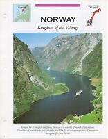 FFA - Norway Kingdom of the Vikings - Western Europe - Fact file Card