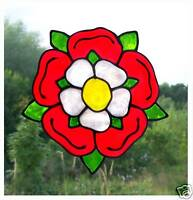 Tudor  Rose Stained Glass Effect Window Cling