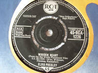 "ELVIS PRESLEY 7""single WOODEN HEART tonight is so right for love 45 RCA 1226"