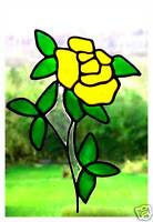 Slender Rose Stained Glass Effect Window Cling
