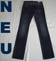 NEU = DIESEL Luxus JEANS Hose Gr. 25 XS STRASS dunkelblau gerades Bein W25 L32