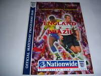 ENGLAND v BRAZIL - MAY 2000 - FRIENDLY INTERNATIONAL - FOOTBALL PROGRAMME
