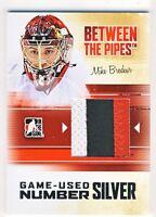 Mike Brodeur 2010-11 ITG Between The Pipes BTP Game-Used Number Silver Card /3