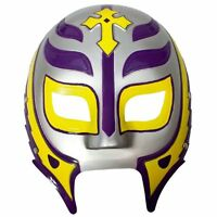 WWE REY MYSTERIO SILVER/PURPLE/GOLD PLASTIC MASK OFFICIAL NEW