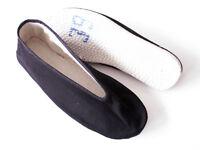 Kung Fu Schuhe - Stoffsohle - schwarz -  div. Größen
