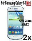 2 x Displayfolie Protective Film in MATT for Samsung Galaxy S3 Mini i8190