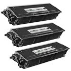 3pk Compatible Brother TN570 High-Yield Black Laser Toner Cartridge