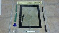 Black Apple iPad 4 Touch Screen Glass Digitizer Replacement + 7 piece tool kit