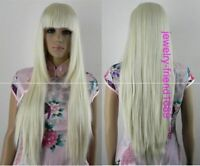 NEW COSPLAY LONG Wig BLONDE STRAIGHT WOMEN'S FULL WIG