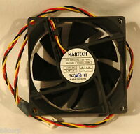 MARTECH 12V Brushless Cooling Fan 12V 0.13A 1.56W 3 Wire 80mm x 25mm LOT of 10