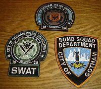 Batman Movie Prop Gotham Police Patch Lot of 3