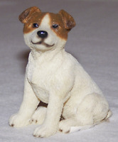 Living Stone JACK RUSSELL Figurine Miniature Terrier Dog Breed Puppy *NEW*