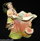 GORGEOUS MULTI COLOR FAIRY WITH FLOWER TEA-LIGHT/VOTIVE CANDLE STAND,HOLDER-NEW