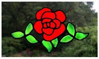 Across Rose Stained Glass Effect Window Cling