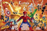 Super Hero Squad and DC Friends Personalized Birthday Photo Invitations