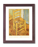 Vincent Van Gogh Chair Pipe Flowers Wall Picture Cherry Framed Art Print