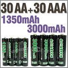 30 AA+30 AAA 1350mAh 3000mAh 1.2V NI-MH rechargeable battery 2A 3A GO!Green