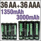 36 AA+36 AAA 1350mAh 3000mAh 1.2V NI-MH rechargeable battery 2A 3A GO!Green