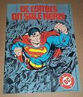 1986 DC Action Comics 22 x 16 Man of Steel Superman promo poster 1: Byrne/1980's