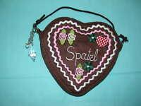 Herzltasche Trachten - /Dirndl-Tasche braun/pink NEU