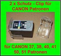 2 x Schutzclip / Clip für Druckerpatronen CANON 37 / 38 / 40 / 41 / 50 / 51  NEU