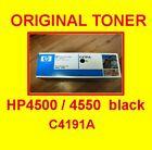 original Toner HP COLOR LASERJET 4500 / 4550 * C4191A black