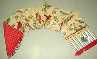 Winter Songbirds ~ Christmas Cardinals Tapestry Table Runner