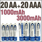 20 AA+20 AAA 1000mAh 3000mAh 1.2V NI-MH rechargeable battery CELL/RC 2A 3A BTY